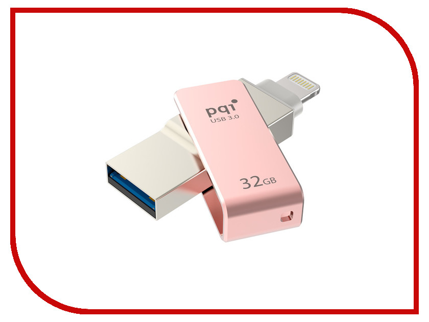 USB Flash Drive 32Gb - PQI iConnect mini Rose Gold 6I04-032GR3001<br>