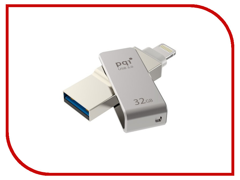 USB Flash Drive 32Gb - PQI iConnect mini Grey 6I04-032GR1001<br>