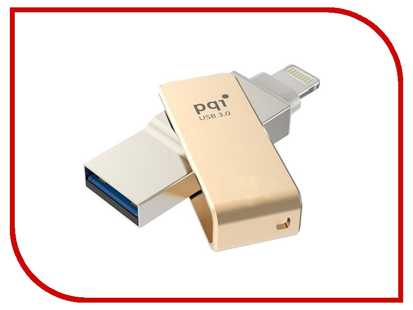 USB Flash Drive 32Gb - PQI iConnect mini Gold 6I04-032GR2001