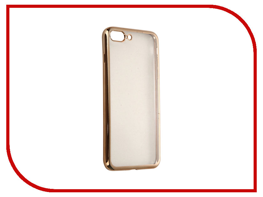 Аксессуар Чехол DF для APPLE iPhone 7 Plus iCase-09 Gold<br>