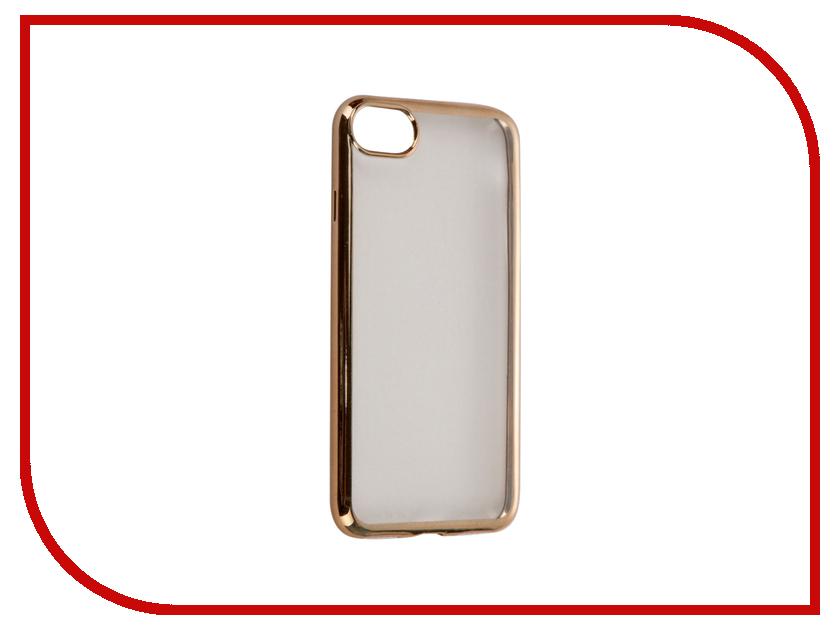 Аксессуар Чехол DF для APPLE iPhone 7 iCase-08 Gold<br>