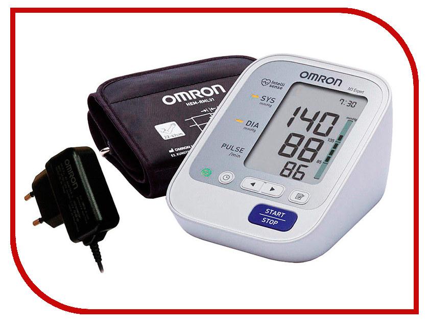 Тонометр Omron M3 Expert HEM-7132-ALRU с адаптером и универсальной манжетой omron m3 expert hem 7132 alru blood pressure monitor home health care heart beat meter machine tonometer automatic digital