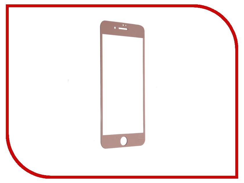 Аксессуар Закаленное стекло DF Fullscreen для APPLE iPhone 7 Plus iColor-08 Pink Gold<br>
