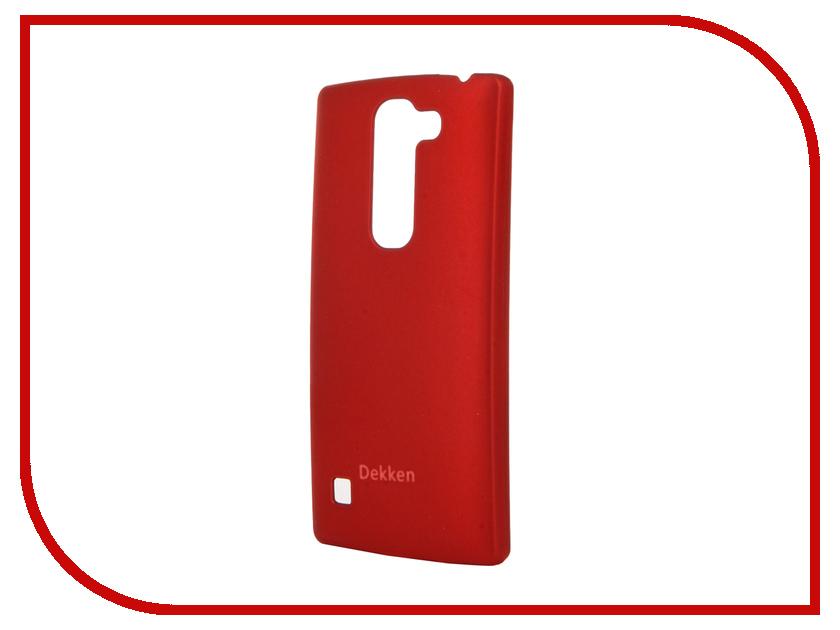 Аксессуар Чехол LG Spirit Dekken Soft touch Red 20336<br>