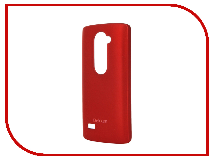 Аксессуар Чехол LG Leon H324 Dekken Soft touch Red 20335<br>