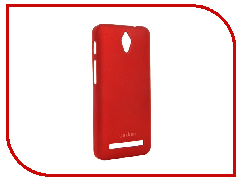 Аксессуар Чехол ASUS ZenFone C ZC451CG Dekken Soft touch Red 20339<br>