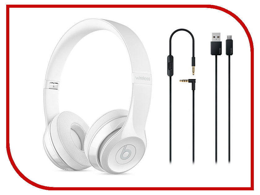 Beats Solo3 Wireless White MNEP2ZE/A беспроводные наушники beats mnep2ze a solo 3 wireless gloss white