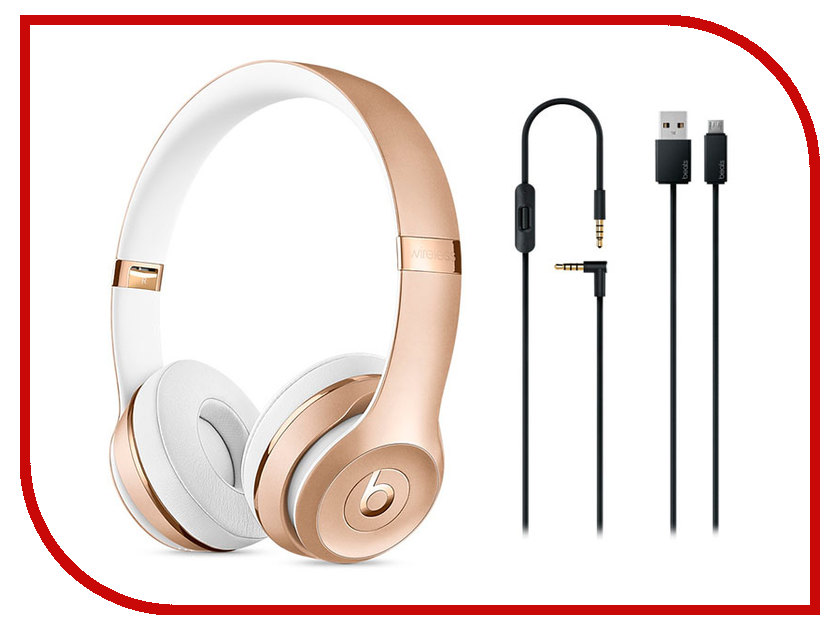 Гарнитура Beats Solo3 Wireless Gold MNER2ZE/A
