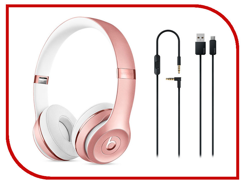 Наушники Beats Solo3 Wireless Rose Gold MNET2ZE/A<br>