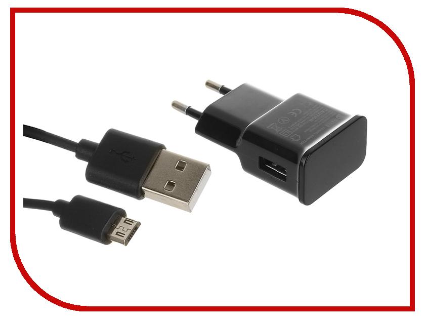 Зарядное устройство Dekken USB 2.4A + кабель microUSB Black 20906