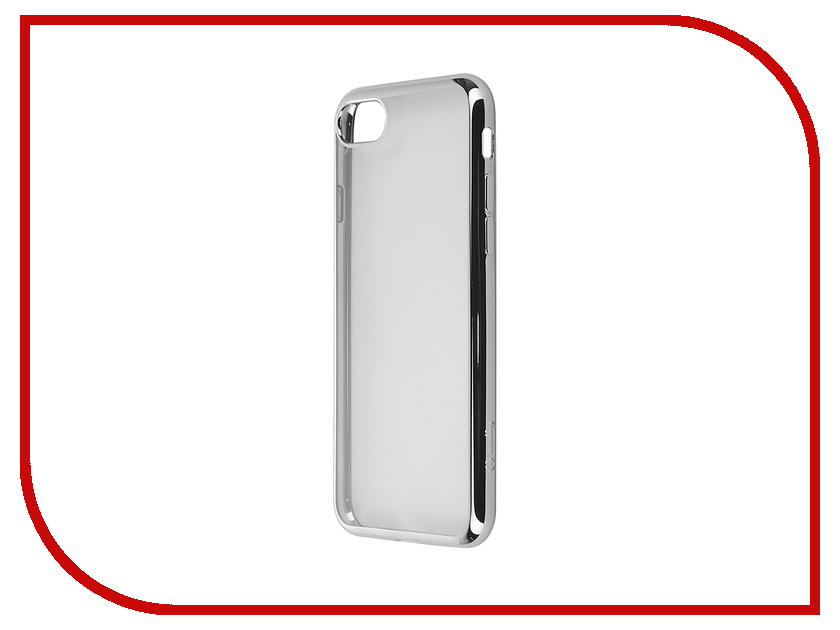 Аксессуар Чехол Celly Laser для APPLE iPhone 7 Transparent-Silver LASER800SV