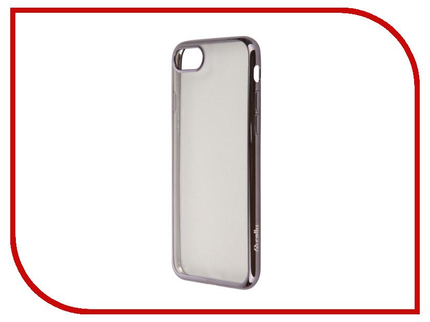 Аксессуар Чехол Celly Laser для APPLE iPhone 7 Transparent-Dark Grey LASER800DS<br>