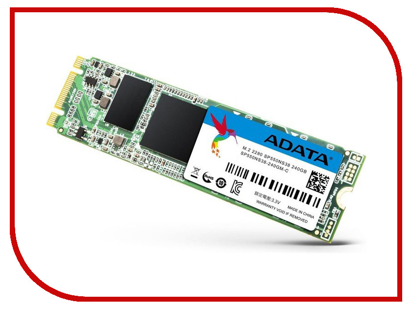 Жесткий диск 240Gb - A-Data Premier SP550 M.2 ASP550NS38-240GM-C