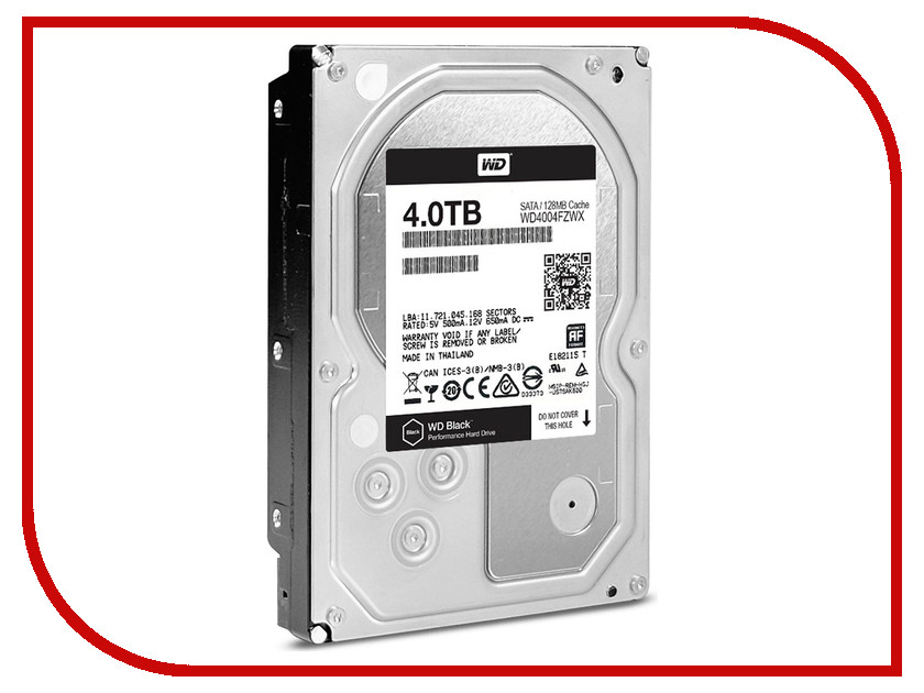 Жесткий диск 4Tb - Western Digital WD Black WD4004FZWX цена