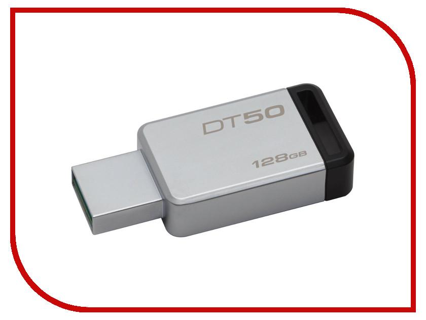 USB Flash Drive 128Gb - Kingston DataTraveler 50 USB 3.1 DT50/128GB kingston usb flash drive pendrive stick dtse9g2 8gb 16gb 32gb 64gb 128gb usb 3 0 pen drive metal flash memory stick cle usb disk