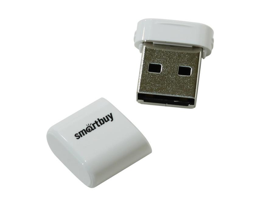 USB Flash Drive 32Gb - SmartBuy LARA White SB32GBLARA-W usb flash drive 16gb smartbuy crown white sb16gbcrw w