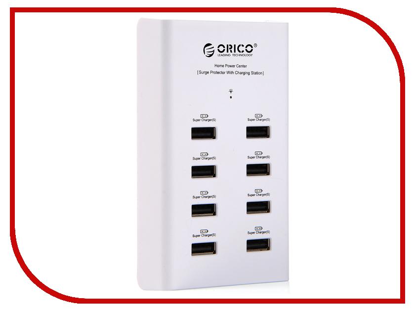 Зарядное устройство Orico DUB-8P White<br>