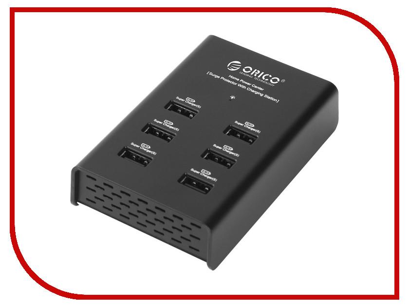 Зарядное устройство Orico DUB-6P Black<br>
