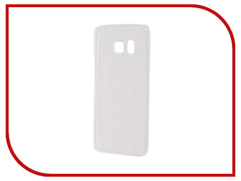 Аксессуар Чехол Samsung Galaxy S6 Edge BROSCO Transparent SS-S6E-TPU-TRANSPARENT<br>