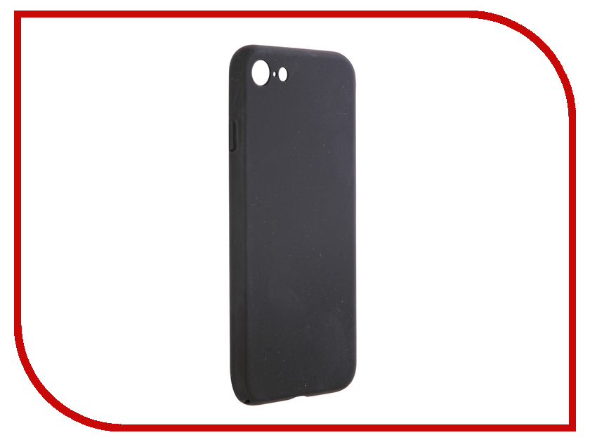 Аксессуар Чехол BROSCO Soft Touch для APPLE iPhone 7 Black IP7-4SIDE-SOFTTOUCH-BLACK аксессуар чехол htc u ultra brosco softtouch 4side black htc uu 4side st black