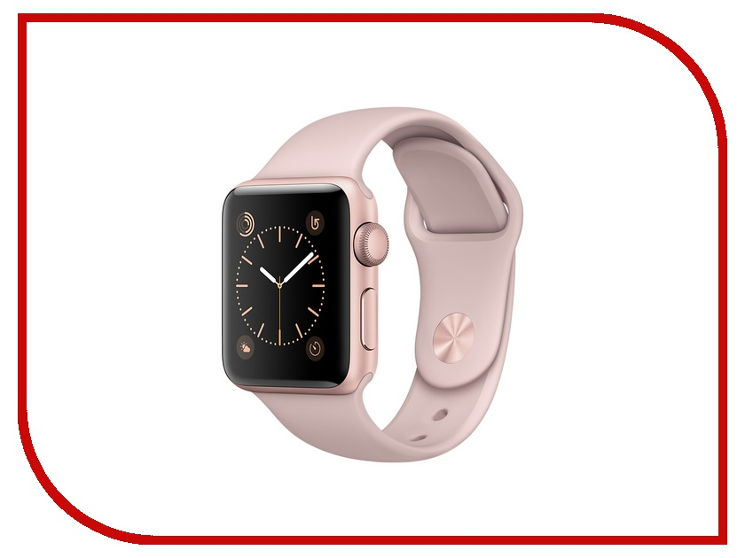 Умные часы APPLE Watch 38mm Rose Gold Aluminium Case with Pink Sand Sport Band MNNH2RU/A<br>