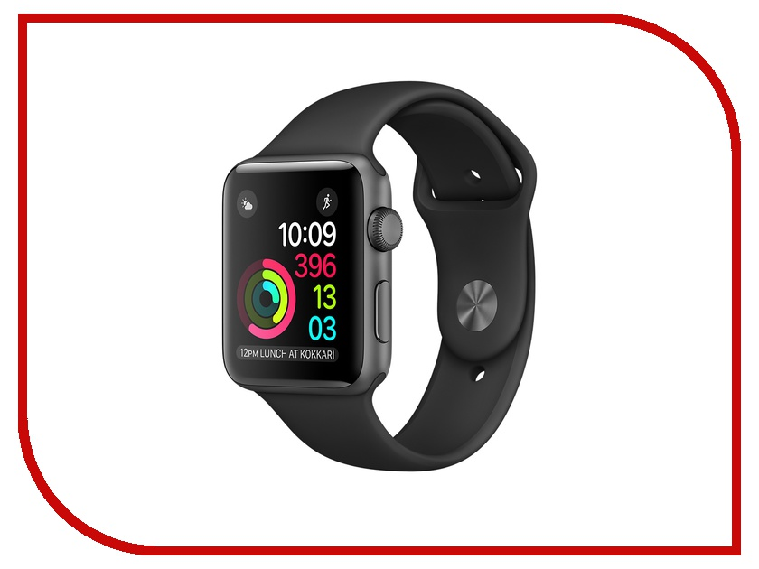 Умные часы APPLE Watch 38mm Space Grey Aluminium Case with Black Sport Band MP022RU/A умные часы apple watch series 3 nike 38mm aluminium space gray sports strap anthracite black mqky2ru a
