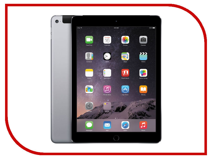 Планшет APPLE iPad Air 2 32Gb Wi-Fi + Cellular Space Grey MNVP2RU/A<br>