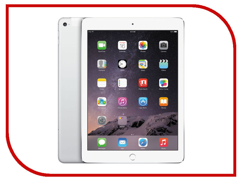 Планшет APPLE iPad Air 2 32Gb Wi-Fi + Cellular Silver MNVQ2RU/A<br>