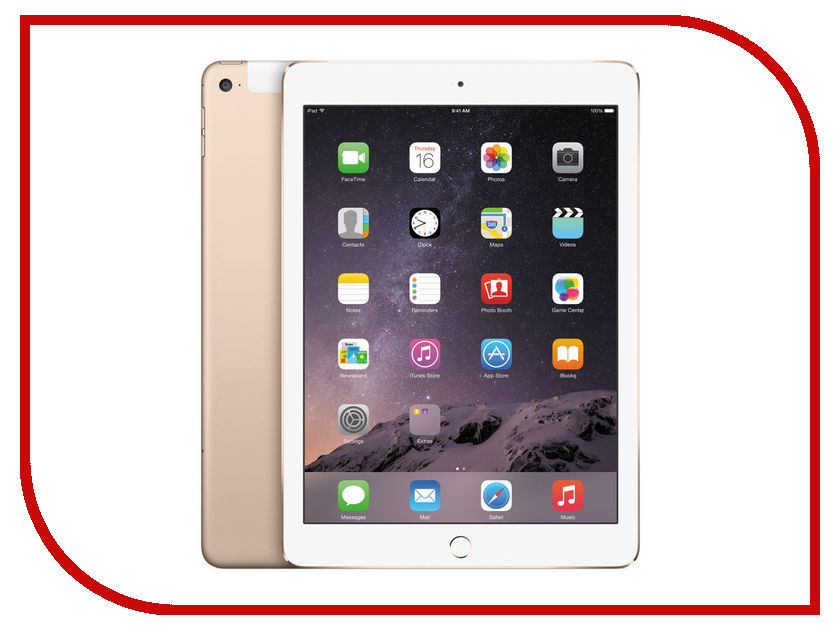 Планшет APPLE iPad Air 2 32Gb Wi-Fi + Cellular Gold MNVR2RU/A<br>