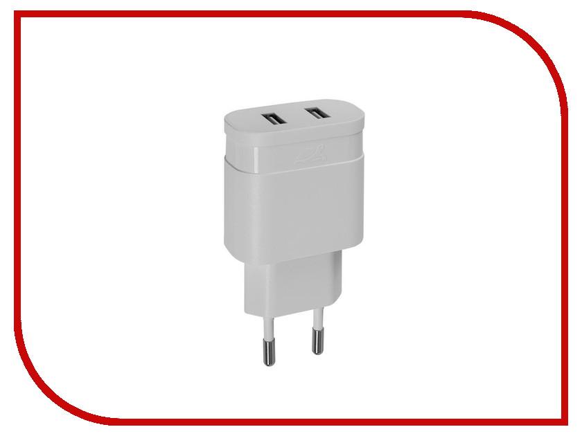 Зарядное устройство RivaCase Rivapower 2xUSB 2400mA White VA4122 W00<br>