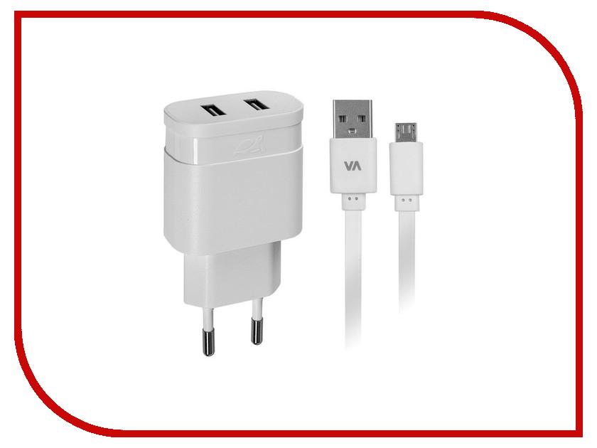 Зарядное устройство RivaCase Rivapower 2xUSB to Micro USB 2400mA White VA4122 WD1<br>