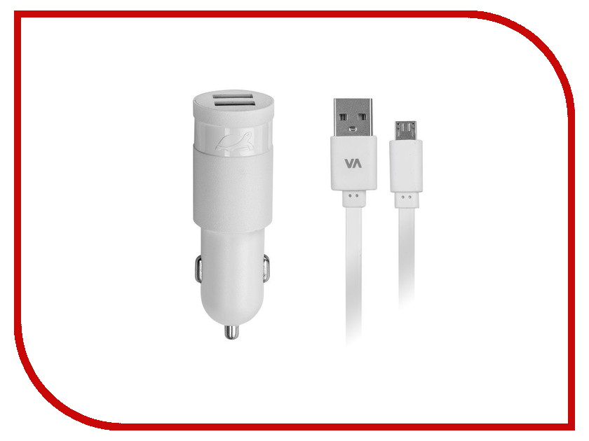 Зарядное устройство RivaCase Rivapower 2xUSB to Micro USB 3400mA White VA4223 WD1<br>