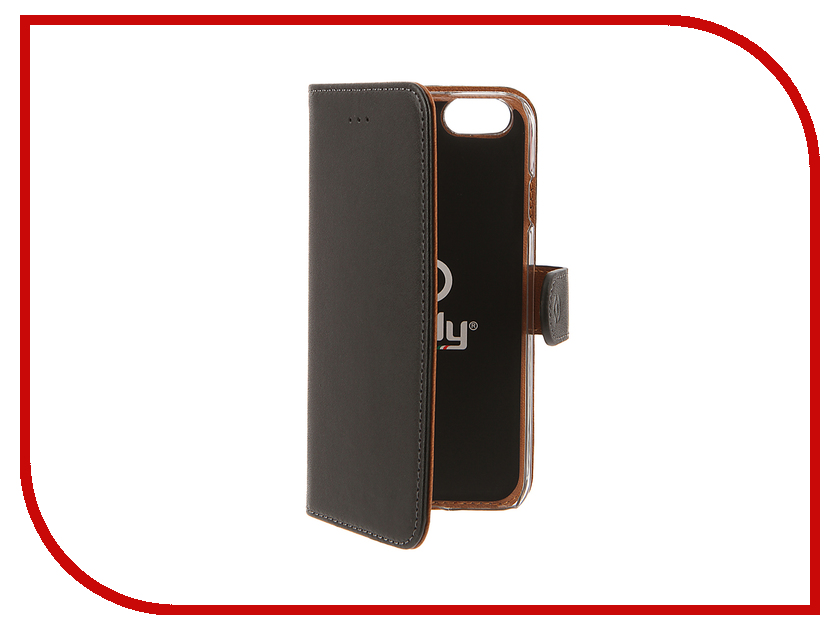 Аксессуар Чехол Celly Wally Case для APPLE iPhone 6/6S Black WALLY700<br>