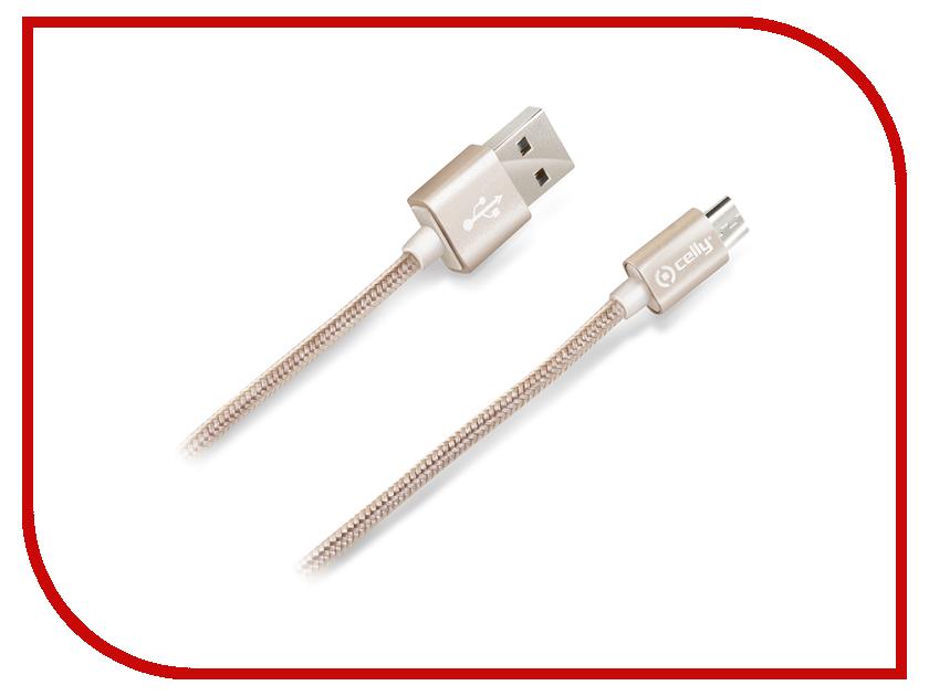 Аксессуар Celly USB - Micro USB 2.1A Gold USBMICROTEXGD<br>