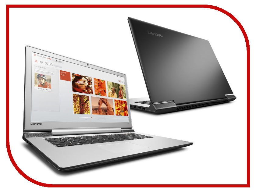 Ноутбук Lenovo IdeaPad 700-17ISK 80RV006ERK Intel Core i7-6700HQ 2.6 GHz/12288Mb/1000Gb/No ODD/nVidia GeForce GTX 950M 4096Mb/Wi-Fi/Bluetooth/Cam/17.3/1920x1080/Windows 10 64-bit<br>