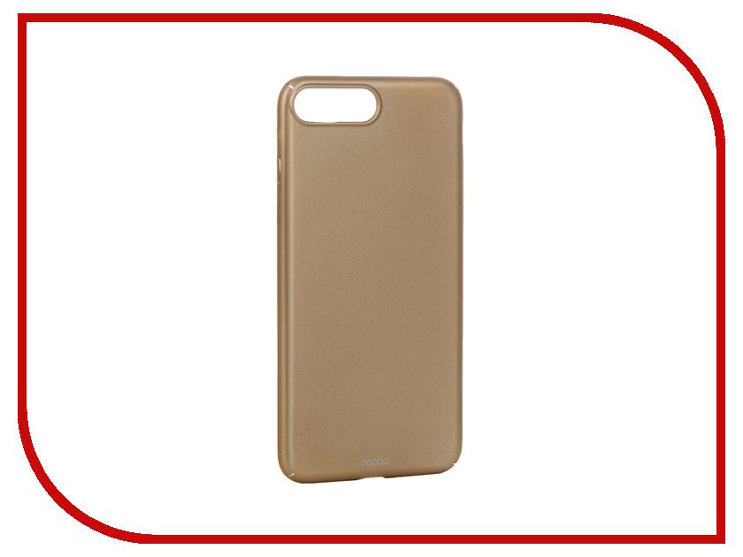 Аксессуар Чехол Deppa Air Case для APPLE iPhone 7 Plus Gold 83275
