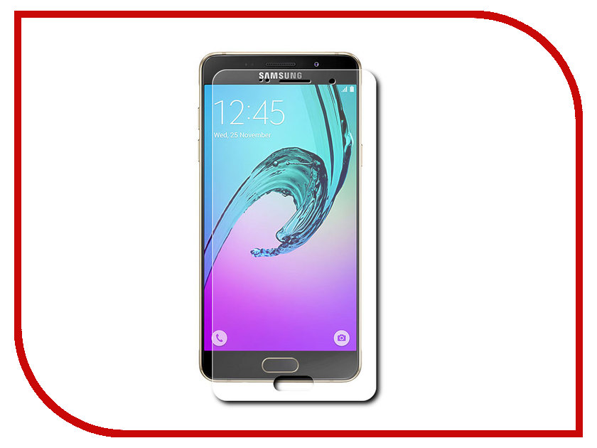 Аксессуар Защитная пленка Samsung Galaxy A7 2016 SM-A710 Krutoff противоударная 12611 чехол из экокожи для samsung galaxy a7 2016 sm a710 светло зеленый mariso page 10