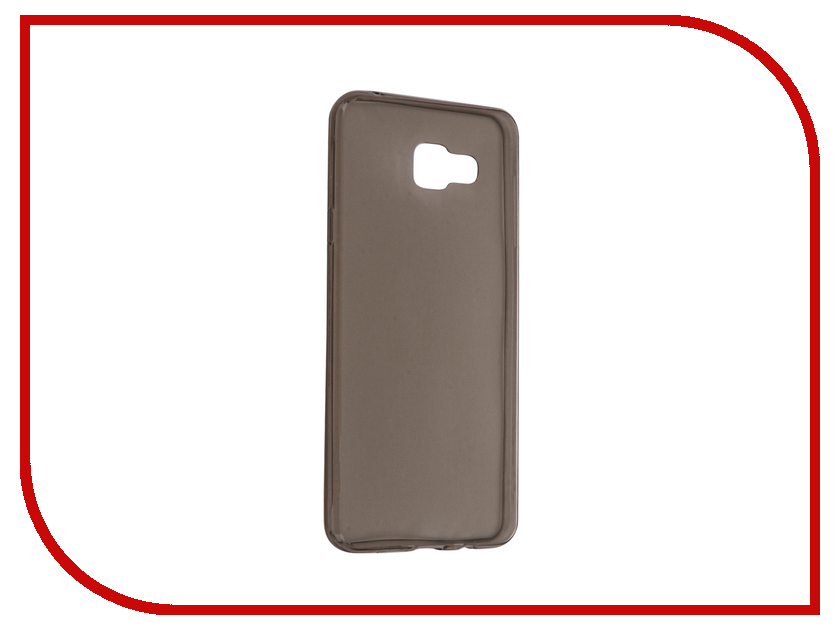 Аксессуар Чехол Samsung Galaxy A7 2016 SM-A710F Krutoff Transparent-Black 11710 аксессуар чехол samsung sm a710f galaxy a7 2016 aksberry white