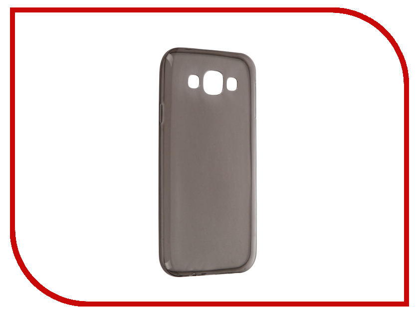 Аксессуар Чехол Samsung Galaxy E5 SM-E500F Krutoff Transparent-Black 11518<br>