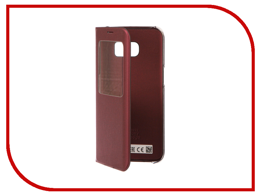 Аксессуар Чехол Samsung Galaxy S7 Edge S View Cover Bordo EF-CG935PXEGRU