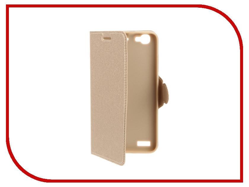 Аксессуар Чехол Huawei GR3 Red Line Book Type Gold