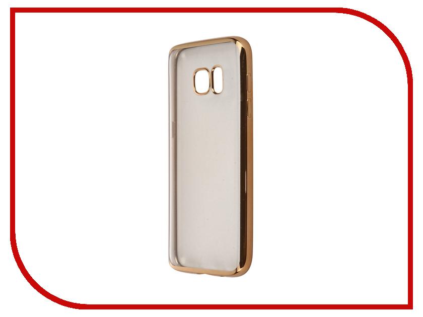 Аксессуар Чехол Samsung Galaxy S7 iBox Blaze Gold клип кейс ibox blaze для samsung galaxy s7 edge розовая рамка прозрачный