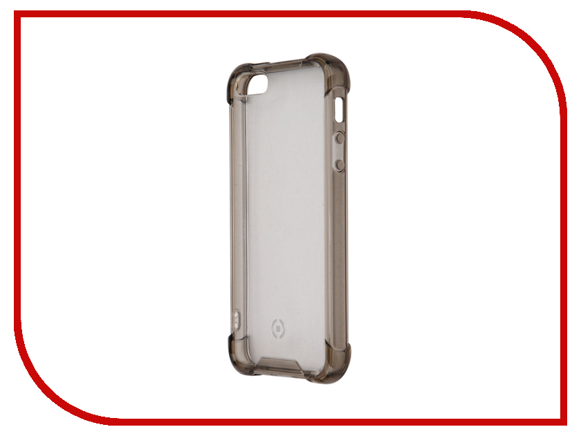 Аксессуар Чехол Celly Armor для APPLE iPhone 5 / 5S / SE Grey ARMOR185SEBK<br>