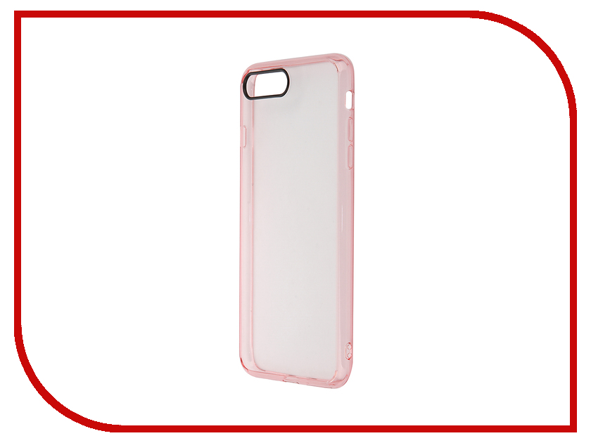 Аксессуар Чехол ROCK Pure для APPLE iPhone 7 Plus Transparent-Pink 37117<br>