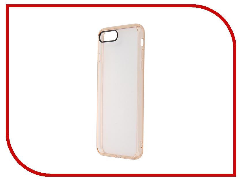 Аксессуар Чехол ROCK Pure для APPLE iPhone 7 Plus Transparent-Gold 37100