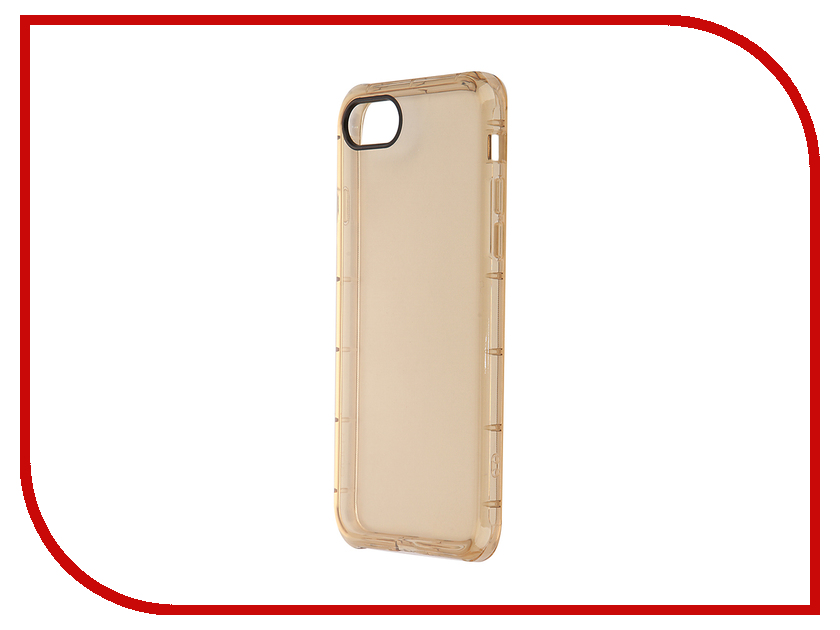 Аксессуар Чехол ROCK Fence для APPLE iPhone 7 Transparent-Gold 37322<br>