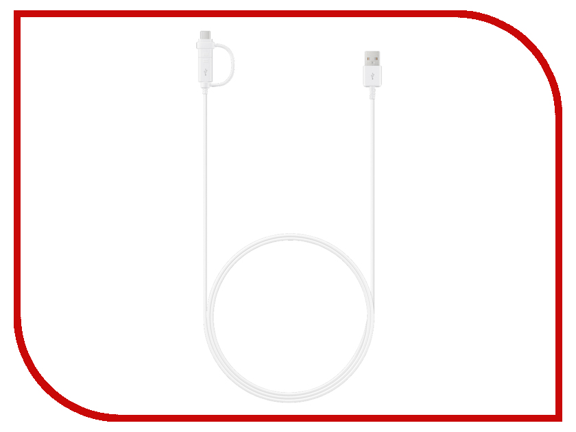 Аксессуар Samsung EP-DG930 microUSB / USB Type-C White EP-DG930DWEGRU fit ep 600