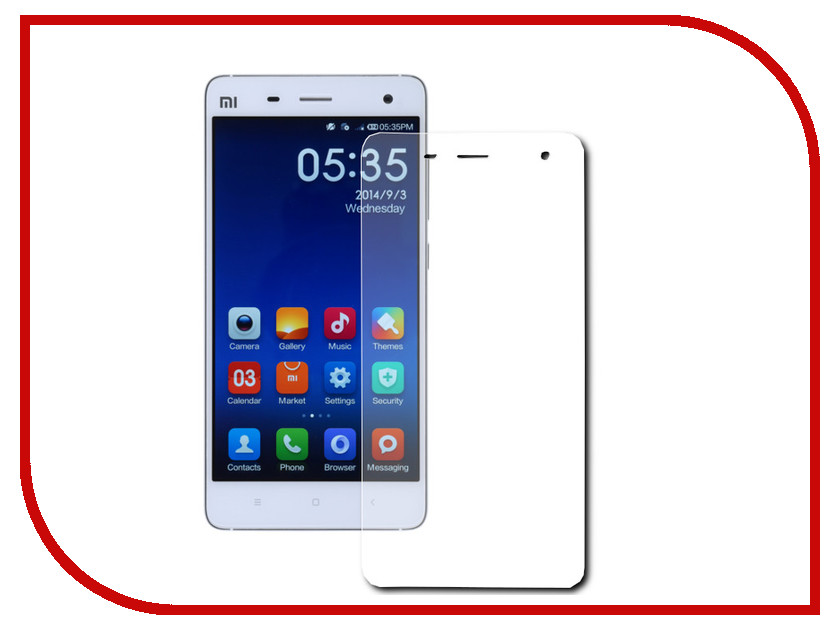 Аксессуар Защитное стекло Xiaomi Mi 4 Smarterra Tempered Glass 0.33mm 2.5D STG038PB