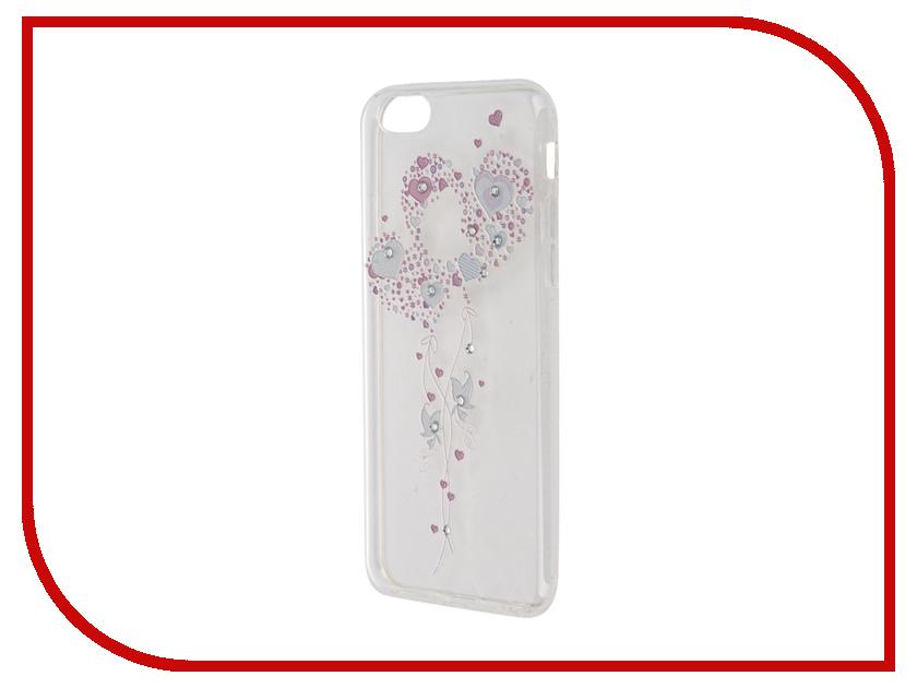 Аксессуар Чехол Smarterra Rhinestomes для APPLE iPhone 6 / 6S Transparent сердце SRSC008TP<br>