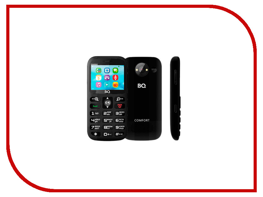 Сотовый телефон BQ BQM-2300 Comfort Black